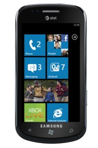 Samsung's Windows 7 phone with large touch tiles